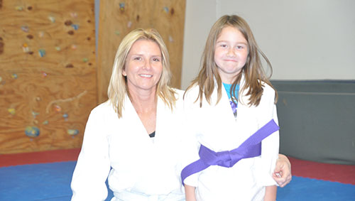 First purple belt at Aikido Bismarck