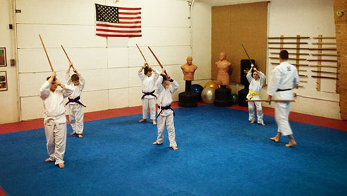 bokken training with kids